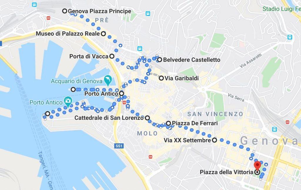 Itinerario Genova 1 giorno